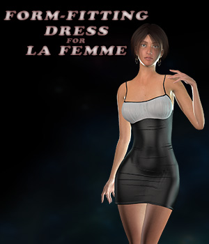 Form-Fitting Dress for La Femme 3D Figure Assets La Femme - LHomme Poser Figures nemirc