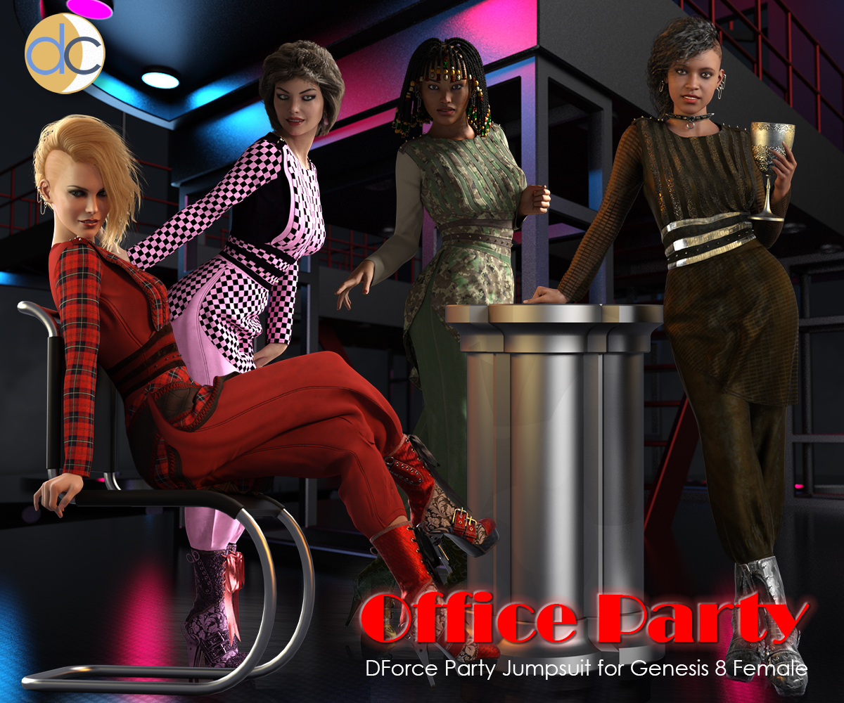 DC-Office Party for Genesis 8 Female by Deecey