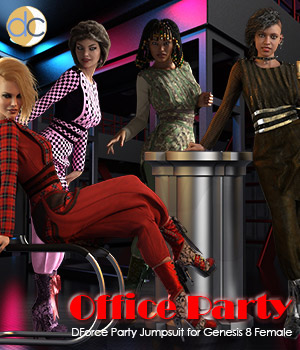 DC-Office Party for Genesis 8 Female 3D Figure Assets Deecey