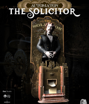 Solicitor Automaton for Daz Studio 3D Figure Assets 3D Models pamawo