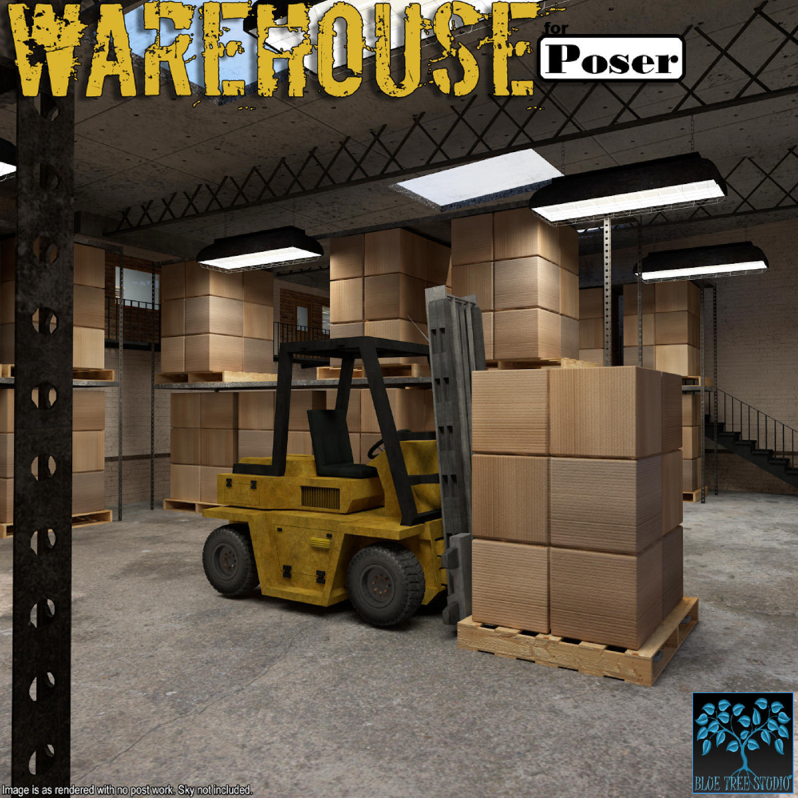 Warehouse for Poser by BlueTreeStudio