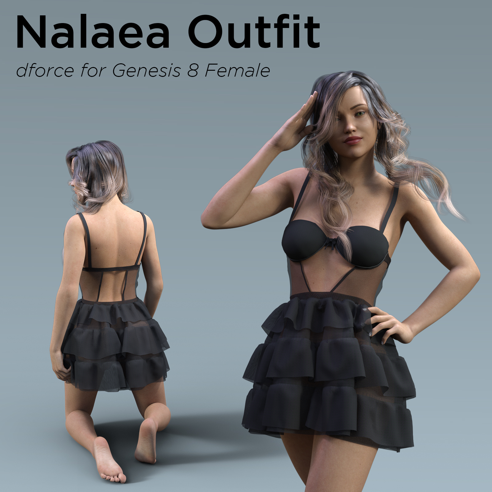 Nalaea Outfit for Genesis 8 Female by Mella_via