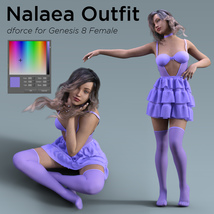 Nalaea Outfit for Genesis 8 Female image 6