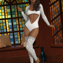 InStyle - JMR dForce Blaire Naughty Outfit for G8F image 1