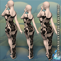 Dforce Sexy Dress G8F - Extended License image 6