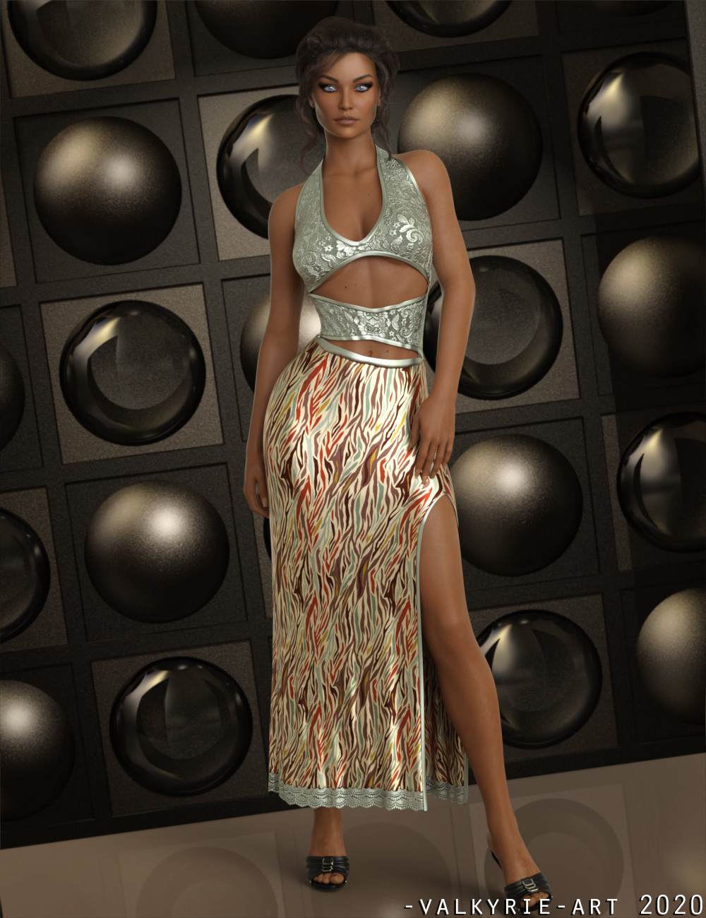 InStyle - JMR dForce Sabia Long Dress for G8F by -Valkyrie-