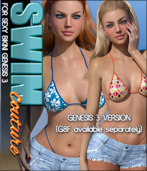 SWIM Couture for Sexy Bikini Genesis 3 Females 3D Figure Assets Sveva