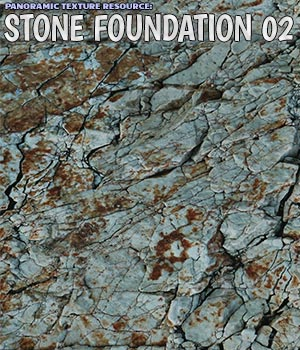 Panoramic Texture Resource: Stone Foundation 02 2D Graphics 3D Figure Assets Merchant Resources ShaaraMuse3D