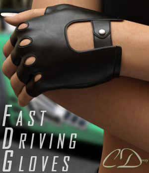 Fast Driving Gloves 3D Figure Assets curtisdway