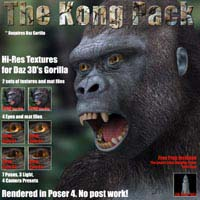 THE KONG PACK Animals 3D Strike