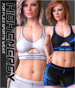 High Energy for Flex Sports Wear G8F 3D Figure Assets Sveva