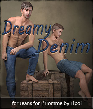 Dreamy Denim for L'Homme 3D Figure Assets La Femme - LHomme Poser Figures Dream9Studios