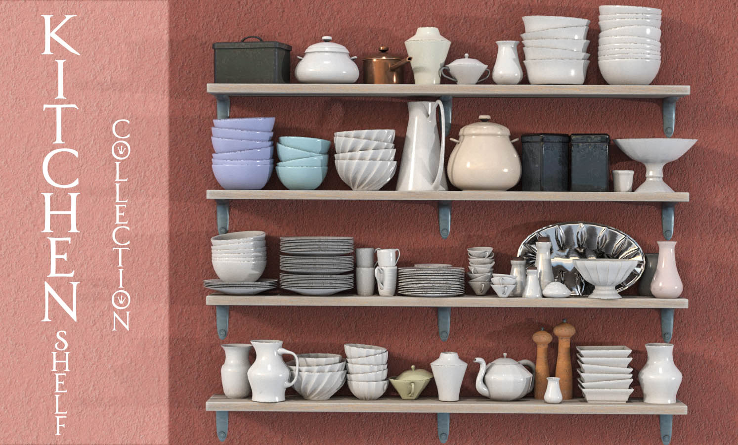 Kitchen Shelf Collection  by HWW0