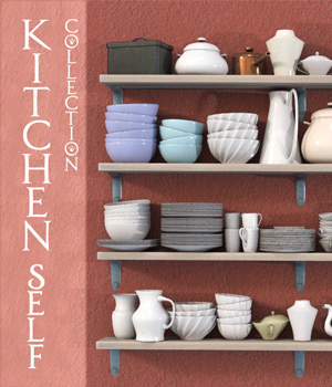 Kitchen Shelf Collection  3D Models HWW0