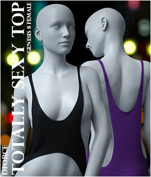 dForce Totally Sexy Top for Genesis 8 Female 3D Figure Assets Imaginary3D