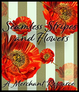 Seamless Stripes and Flowers 2D Graphics Merchant Resources adarling97