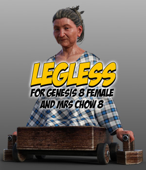 Legless for G8F & Mrs Chow 8 3D Figure Assets powerage