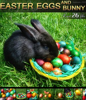 Easter Eggs and Bunny - 2D backgrounds and PNG 2D Graphics bonbonka