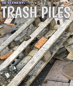 3D Scenery: Trash Piles - Extended License 3D Models Extended Licenses ShaaraMuse3D
