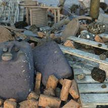 3D Scenery: Trash Piles - Extended License image 1
