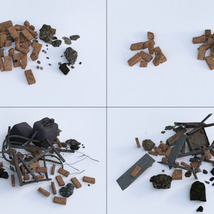 3D Scenery: Trash Piles - Extended License image 6