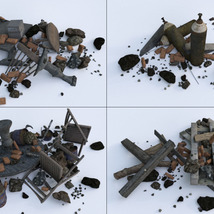 3D Scenery: Trash Piles - Extended License image 7