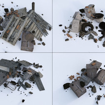 3D Scenery: Trash Piles - Extended License image 8