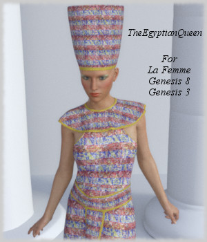 TheEgyptianQueen for La Femme, G8 and G3 3D Figure Assets La Femme - LHomme Poser Figures jroulin