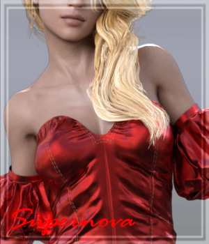 dForce FashionGown For G8F 3D Figure Assets -supernova-