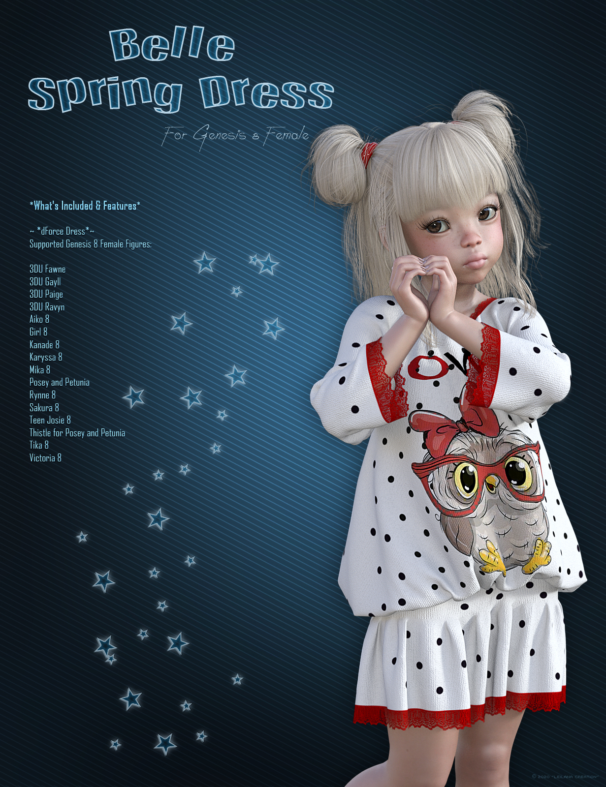 Belle Spring Dress by Leilana