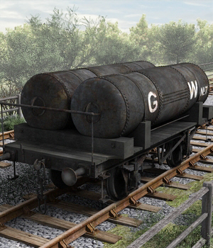 GWR Cordon Gas Tank Wagon - Extended License 3D Models Extended Licenses DryJack