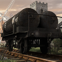 GWR Cordon Gas Tank Wagon - Extended License image 1