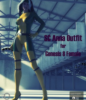 SC Anna Outfit for Genesis 8 Female 3D Figure Assets secondcircle