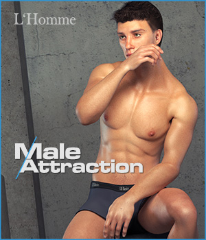 Male Attraction - for L'Homme 3D Figure Assets 3D Models La Femme - LHomme Poser Figures RPublishing