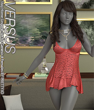 VERSUS - Stay Home Lingerie Set for Genesis 8 Females 3D Figure Assets Anagord