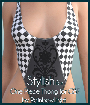 Stylish for One Piece Thong 3D Figure Assets antje
