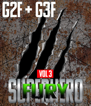 SuperHero Fury for G2F and G3F Volume 3 3D Figure Assets GriffinFX