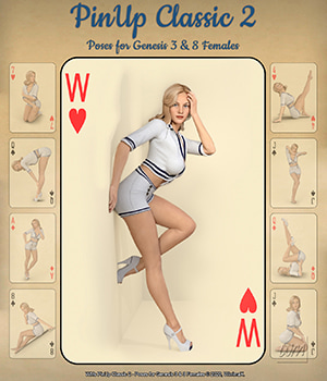 WMs PinUp Classic 2 - Poses for Genesis 3 and 8 Females 3D Figure Assets WiwimaX