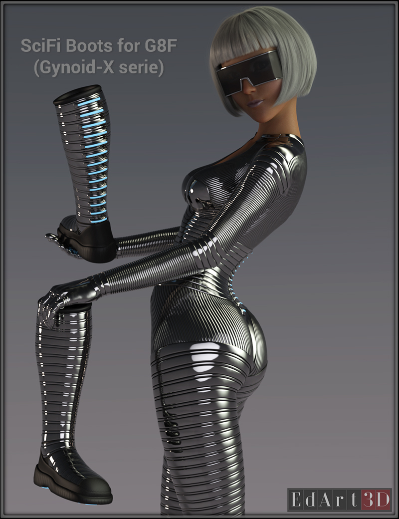 SciFi Boots for G8F by EdArt3D