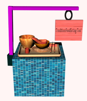 Traditional Food Eating Tools 3D Models atpo