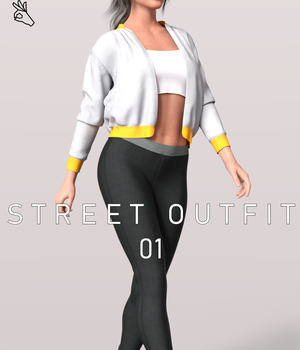 Dforce BW Street Outfit 01 3D Figure Assets Beautyworks