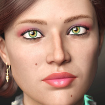 WkD3D Anetka for Genesis 8 Female image 9