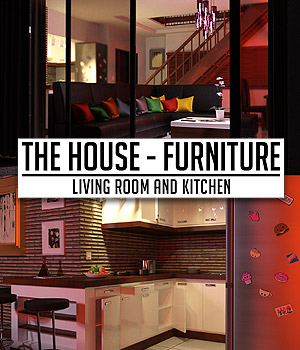 The House Furniture -Living Room and Kitchen 3D Models powerage