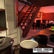 The House Furniture -Living Room and Kitchen image 3