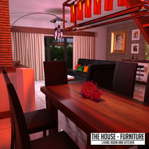 The House Furniture -Living Room and Kitchen image 7