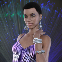 Jewelry Set One for Genesis 8 Females image 1