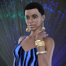 Jewelry Set One for Genesis 8 Females image 2