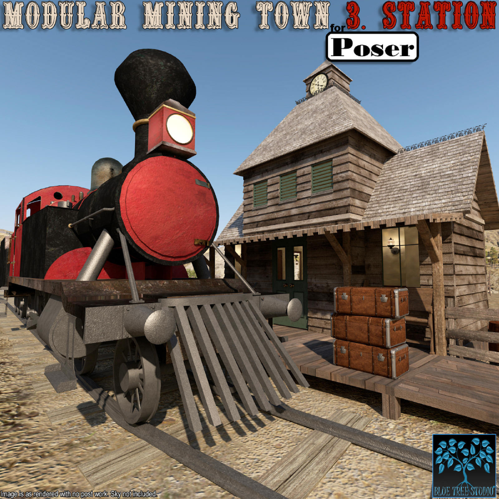Modular Mining Town: 3. Station for Poser by BlueTreeStudio