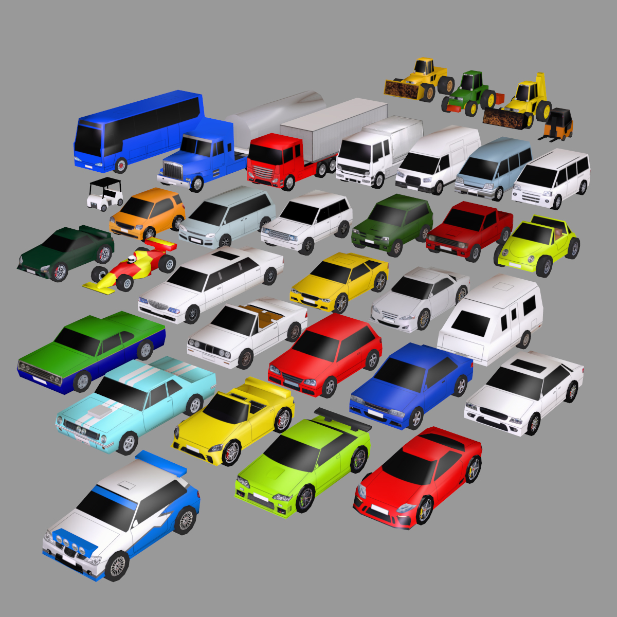 Super Low Poly Vehicles - Extended License by apcgraficos