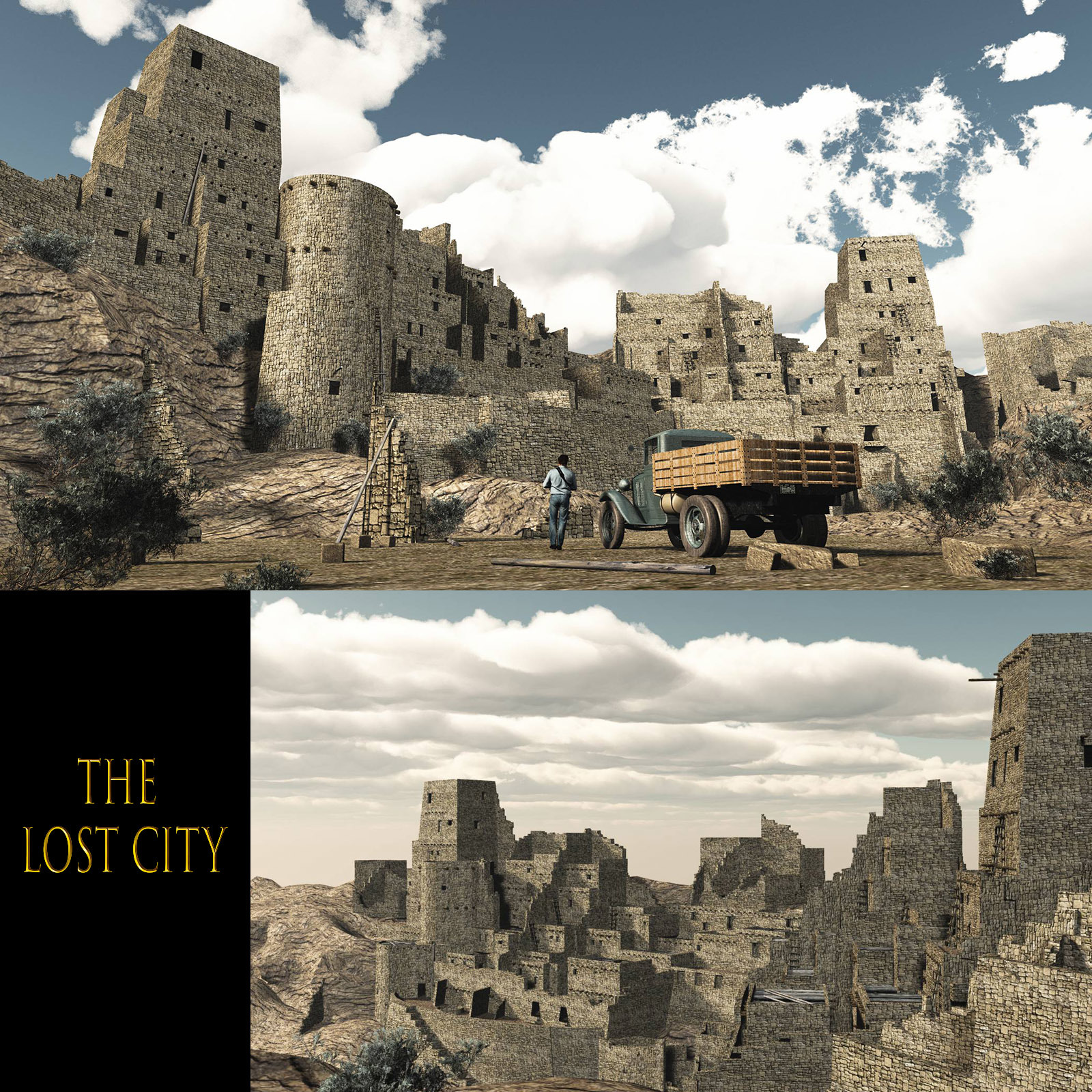 MS20F Lost City for Obj & fbx by London224